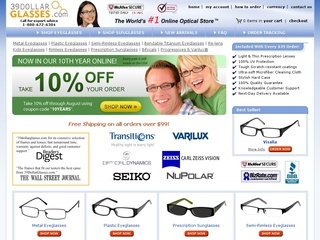 Today's top 39 Dollar Glasses Coupon: $15 Off Your Order. See 40 39 Dollar Glasses Coupon and Coupon Code for December