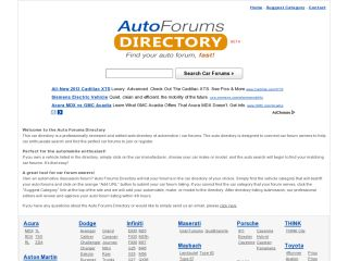 Auto Forums Directory coupons