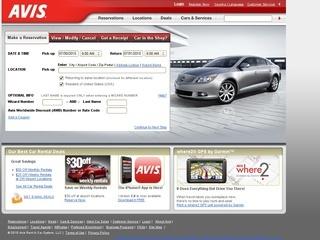 Avis Rent A Car coupons