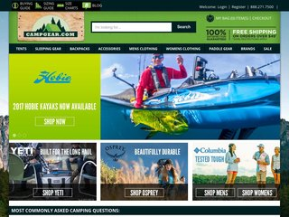 CampGear.com coupons