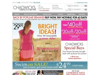 Chadwicks Coupons All Active Chadwicks Promo Codes & Coupon Codes - Up To 30% off in December If you are looking for classic, elegant and stylish apparel for her, a visit to the Chadwicks online store is in order.
