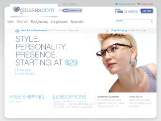 Glasses.com coupons