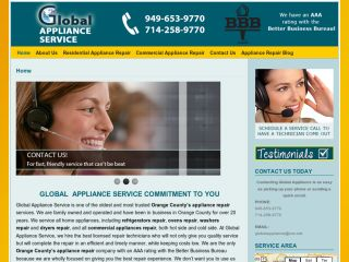 Global Appliance Service coupons