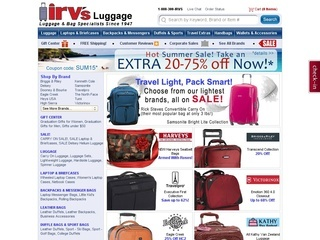 Irvs luggage coupon code