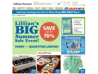 $4.99 Shipping With $59+ Order With Lillian Vernon Code