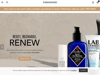 mankind coupon code
