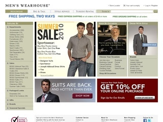70% Off | Today's Men's Wearhouse Coupon Code