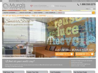 Today's top Murals Your Way coupon: Save 25% Off Murals. Get 3 coupons for