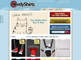 Nerdy Shirts coupons