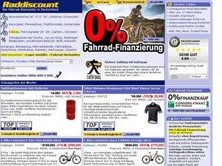 Raddiscount Online-Shop, der Fahrrad-Discounter