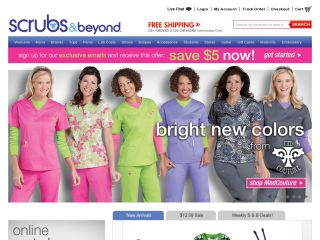 Save on medical scrubs and nurse uniforms with these 13 Scrubs & Beyond coupons and promo codes for December. Show off your individual style with the scrubs you wear every day! Shop many different color and pattern options, and enjoy custom embroidering and engraving with great discounts. Scrubs & Beyond has the brands you love at prices you'll love even more.