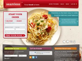 Seamless Food Delivery Promo Code