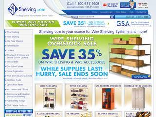 Shelving.com coupons