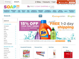 Soap.com coupons