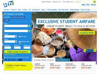 STA Travel USA coupons