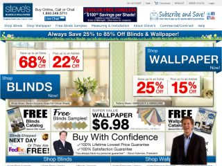 Steves Blinds & Wallpaper coupons