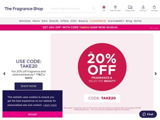 thefragranceshop coupon code