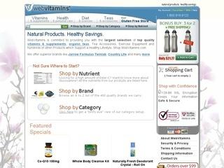 WebVitamins coupons