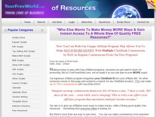 YourFreeWorld.com Scripts coupons